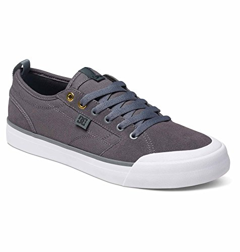 DC Men's Evan Smith S Low-Top Sneakers, Grey Leather, Suede, 10 D