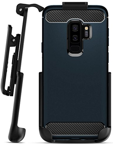 Belt Clip Holster for Spigen Rugged Armor Case - Galaxy S9 Plus (Encased) Secure Fit Rotating Holster (case not included)