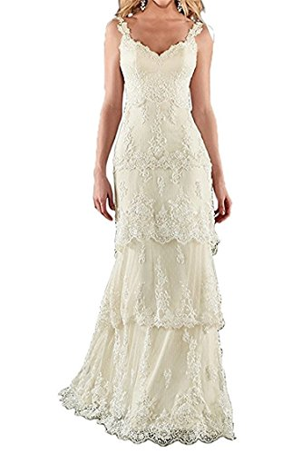 HATAIL Bridal Pleated Lace Layered Wedding Dress Mermaid For Bride 2017