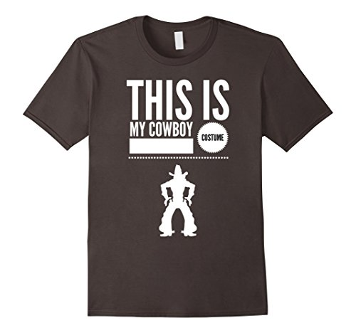 Men's Funny Halloween TShirt Costume This is my Cowboy Costume XL Asphalt (Mens Cowboy Costume Tshirt)