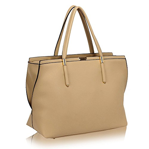 Design Use Extra Tote Fashion 1 Handbags Designer Bags Large University Office Womens Everyday Ladies Or Beige College 4nAq6Rw6