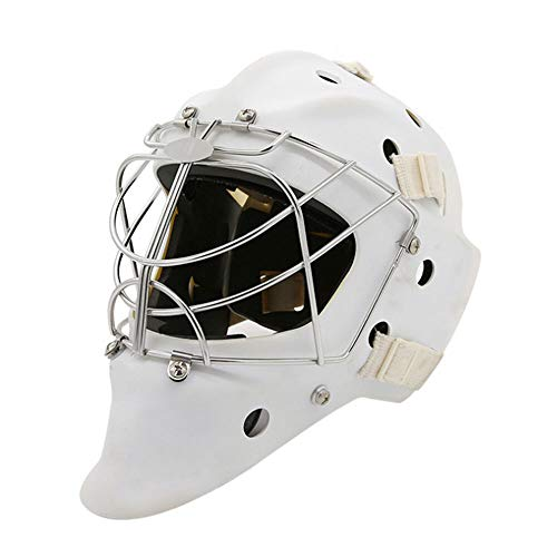 TECHLINK Hockey Helmet Steel Combo Ice Hockey Mask Helmet Cage Strong Impact Resistance Face Mask Protective Gear,L]()