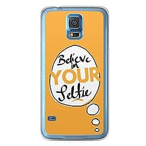 Selfie Samsung Galaxy S5 Transparent Edge Case - Handdrawn