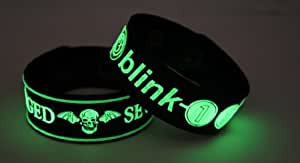 AVENGED SEVENFOLD and BLINK-182 X7B1 Glow in the Dark Bracelet Wristband