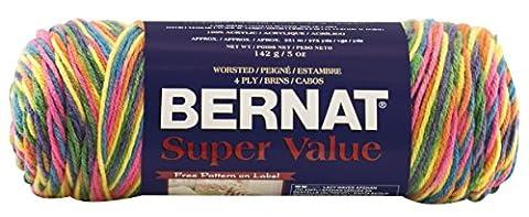 Bernat Super Value Yarn, Ombre, 5 Ounce, Merry Go Round, Single Ball