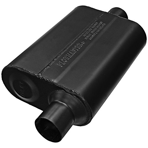 - Flowmaster 942446 Super 44 Muffler - 2.25 Offset IN / 2.25 Center OUT - Aggressive Sound