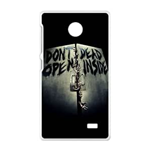 Don't Dead Open Inside Scary Pattern Brand New And High Quality Hard Case Cover Protector For Nokia Lumia X