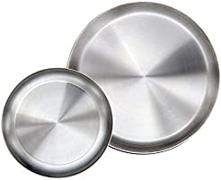 Immokaz Matte Polished 10.0 inch 304 Stainless Steel Round Plates Dish Set for Dinner Plate  sc 1 st  Amazon.com & Amazon.com: Stainless Steel - Dinner Plates / Plates: Home u0026 Kitchen