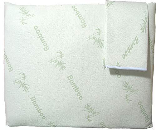 Niagara Sleep Solution Super Soft Bamboo Cooling Pillow Protectors Standard 2 Pack 20x26 / Pair Zippered Case, Guaranteed Noiseless Pad, Ultra Plush Absorbent