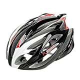 MCH- FJQXZ Integrally-molded EPS+PC Red and White Cycling Helmets (21 Vents)
