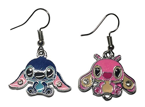 Lilo & Stitch Movie Stitch and Angel Enamel Filled French Wire Earrings
