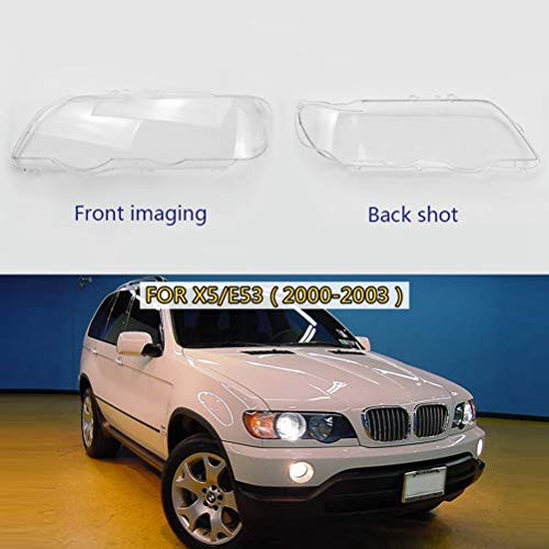 Pair for BMW X5/E53 2000-2006 Headlight Clear Lens Cover Headlamp Clear Shell 4Doors Transparent Lens Cover Replacement (Right Side 00-03) (X5 Headlight Bmw Lens)