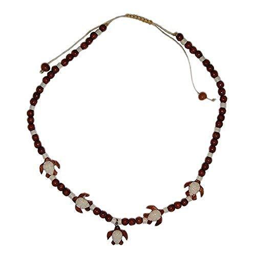 - Hawaiian Sea Turtle Honu Koa Wood and Bone Necklace