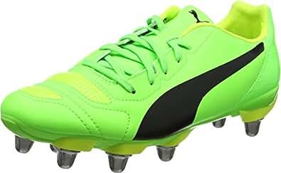 Puma Evopower 4.2 Rugby H8, Botas Hombre, Verde (Green Gecko Black-Safety Yellow 08), 40.5 EU