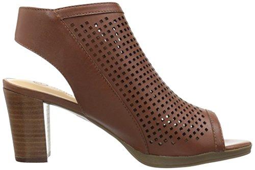 Dark Women's Leather Lenore Tan Vita Sandal Heeled Bella OZpxqp