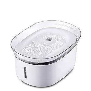 HoneyGuaridan W18 Fuente de Agua automática para Mascotas, dispensador de Agua para Perros y Gatos, 2 l
