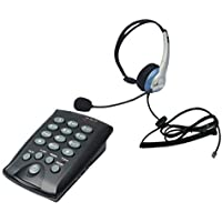 Voistek Call Center Dialpad Headset Telephone with Tone Dial Keypad and Mute Redial Flash Button + Mono Headset with Noise Cancelling (K10CHT800)