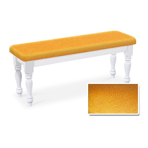 Amazon.com   The Furniture Cove Wood Country Style White Farmhouse Dining  Bench With Gold Glitter Vinyl Cushion   Kitchen U0026 Dining Room Furniture