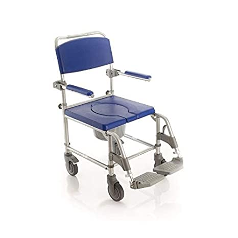 mopedia - Silla ergonómico para inodoro y ducha sobre ruedas - Relleno de PU: Amazon.es: Salud y cuidado personal