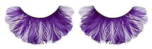 Zinkcolor Purple Feather False Eyelashes F133 Dance Halloween Costume]()
