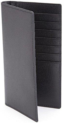 Saffiano Bi Fold (Royce Leather Rfid Blocking Bifold Credit Card Wallet in Saffiano Leather, Black)