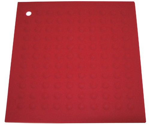 Lamson Big HotSpot Pot Holder/Counter Protector/Large Trivet, 11.5'' x 11.5'', Red, Silicone