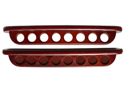 Sterling Gaming Deluxe Two-Piece Wall Rack (8 Cue), Mahogany