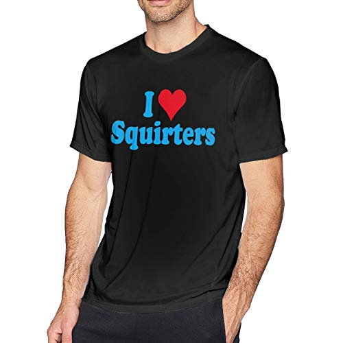 I Love Squirters (I Love SQUIRTERS Pride Men's Short Sleeve T-Shirt Tee Classic Crew Neck Tee)