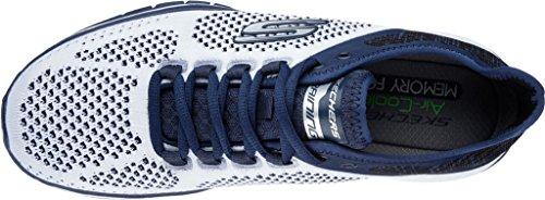 Tr Skechers nvgy Bianco 52609 Scarpe gray Uomo Burst Flinchton Navy aaq4Sx5