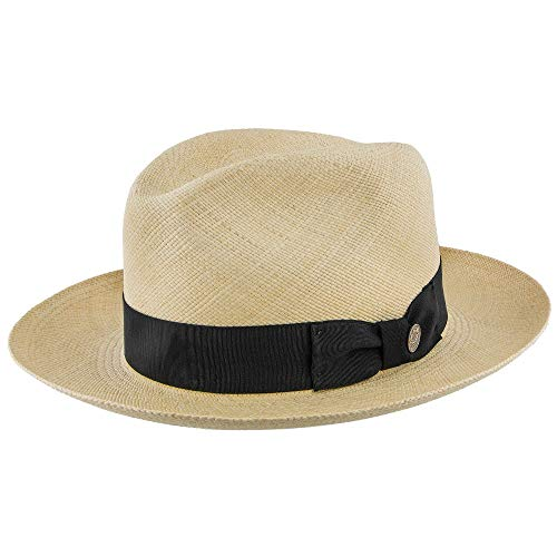 Stetson Center Dent Panama Straw Fedora Hat - TSCDNTK
