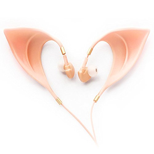 [Webueat Elf Ear Shaped Ultra-Soft Corded Earbud Earphone Accessories,Nude] (Making Elf Costume)