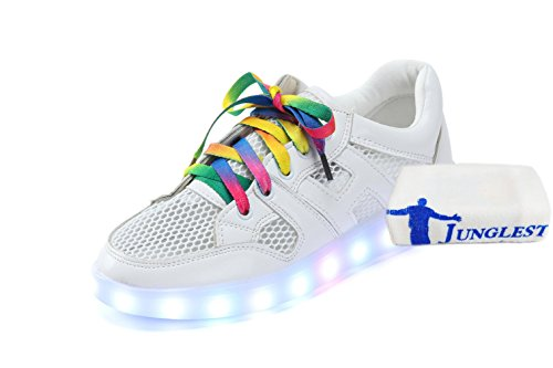 (+Kleines Handtuch)LED-Sommer-Netzwerk-Modelle bunten LED USB Schuhe atmungsaktive Schuhe leuchtende fluoreszierende Schuhe Paar Modelle Mä c0