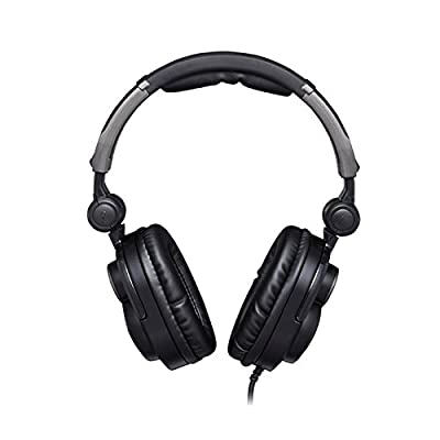Estone Foldable Over Ear Stereo Noise Cancelling Headphones Headset Earphone Great for Listening Music and Playing PC Games Black