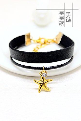 Fan Spider Necklace Pendant Double Chain Clavicle (Star Models Bracelet [1] ()