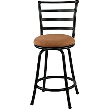 Amazon Com Mainstays 24 Quot Ladder Back Barstool With Tan