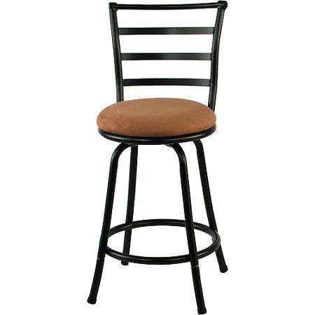 Astonishing Amazon Com Mainstays Metal Swivel Counter Stool 24 Black Machost Co Dining Chair Design Ideas Machostcouk