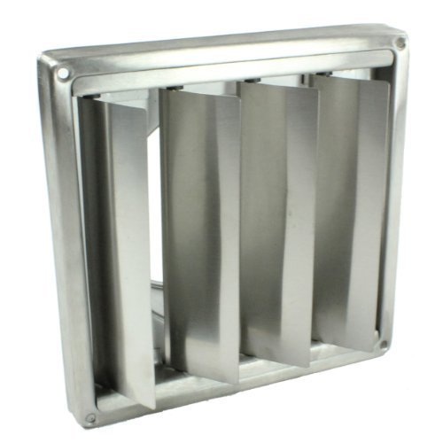 First4spares Stainless Steel Wall Vent With Flaps 5'
