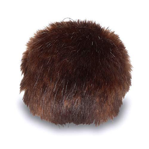 Bernat Faux Fur Pom Pom, 3 in, Brown Muskrat -