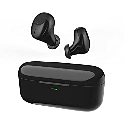 Wireless Earbuds V4.2 Bluetooth Headphones Wireless In Ear Earbuds Mini Noise Cancelling Sweatproof Stereo Headsets for iPhone Samsung Android Phones (Black)