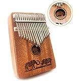 Kalimba 17 Keys Thumb Piano Solid Wood Finger...