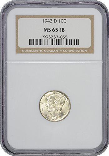 1942 D Mercury Dime MS65FB NGC - Ngc Dimes