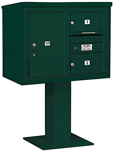 Salsbury Industries 3406d-02grn 4 C Pedestalメールボックス、グリーン   B00CLVFQ78