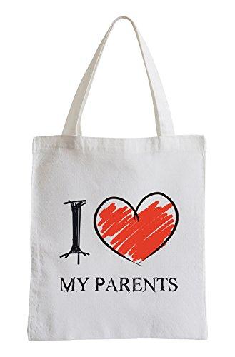 I Love My Parents Fun sacchetto di iuta