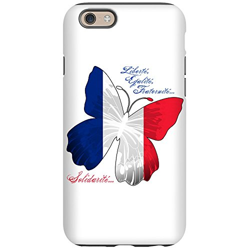(iPhone 6 Tough Case French Flag Butterfly Solidarite)