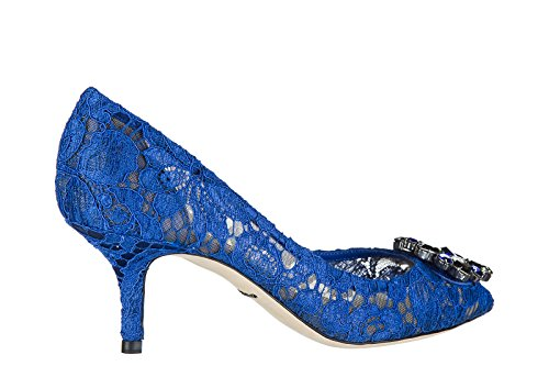 Dolce & Gabbana Mujeres Pumps Court Talón Zapatos Bellucci Blu