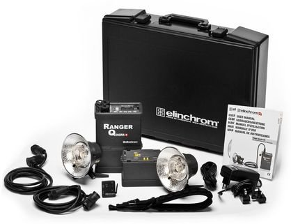 Elinchrom EL 10291.1 Ranger Quadra Kit with 1 Ranger Quadra Power Pack, 2 Batteries, 2 A Heads, 2 Reflectors, 1 Skyport Transmitter, Hard Shell Case, Cables and Charger by Elinchrom