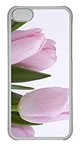for ipod Touch 4 Case Unique Cool for ipod Touch 4 PC Transparent Cases Pink Tulips 3 Design Your Own for ipod Touch 4 Case
