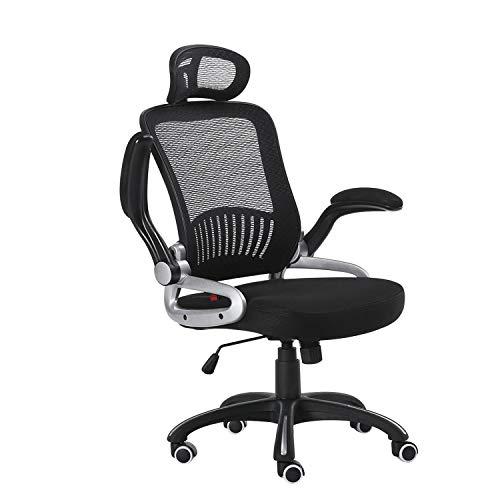 Halter HALBM901H Executive Mesh Office Chair, Home & Office Computer Desk Chair, Sturdy Nylon Base, Adjustable Headrest