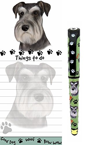 Schnauzer Pet Lovers Magnetic To-Do List Pad and Easy Glide Gel Pen