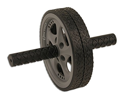 Da Vinci Dual Wheel Abdominal Exerciser, Gray - Best Abdominal Rollout Equipment with Anti Slip Grips & Double Wheels